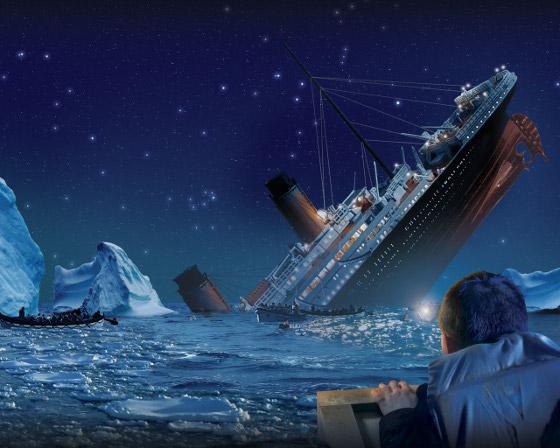 titanic hundiendose