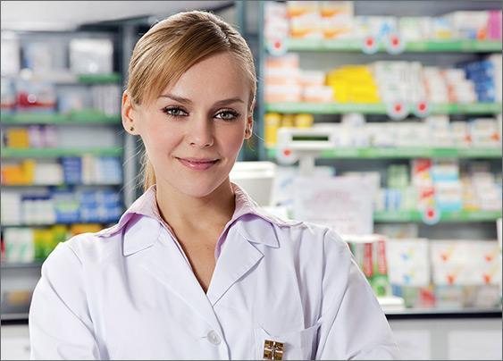 mujer farmaceutica